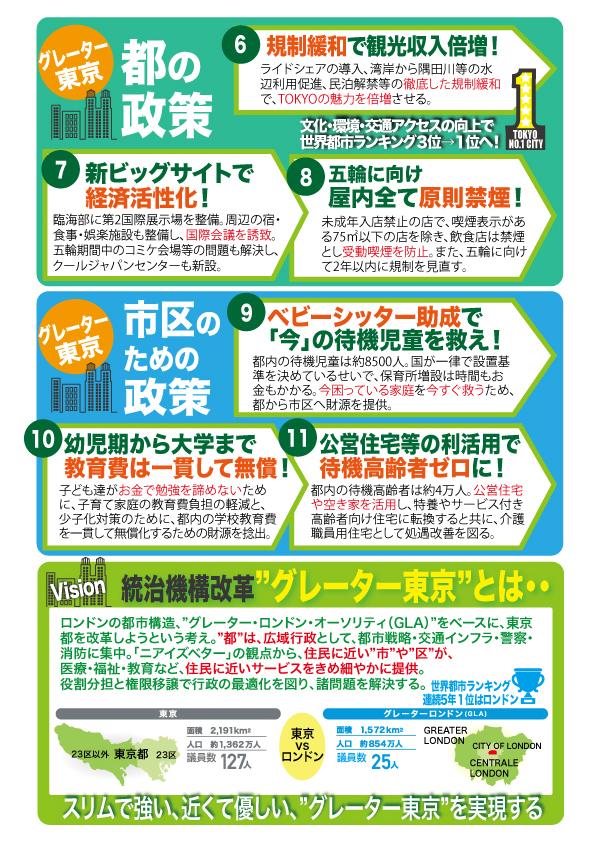 東京維新の会政策集(最終版)を発表しました!